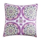 Medallion Purple Accent Pillow