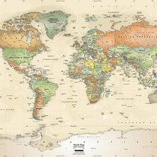 Shop Old World Map Mural Products On Houzz