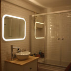 mirror with integrated lighting modern bathroom mirrors by ikea