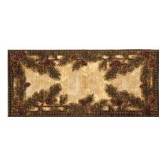Dean Flooring Company - Washable Non-Skid Pine Cone Kitchen Mat/Rug 20