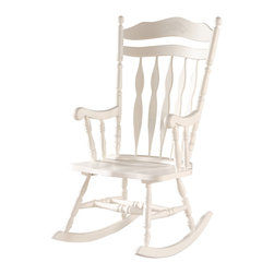 Embossed Back Solid Wood Rocking Chair - Whether you are a new mom ...
