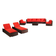 Modern outdoor products houzz for Belmont brown wicker patio chaise lounge