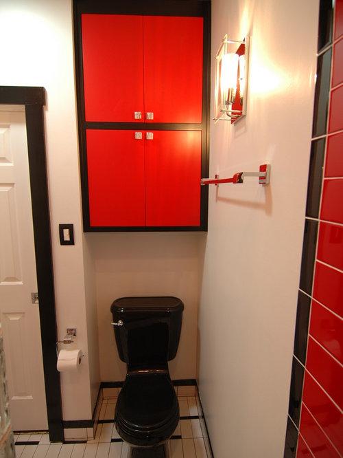 Small Red Bathroom Design Ideas Renovations Photos