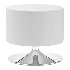 Zuo Modern Plump Ottoman White Thoroughly Modern The