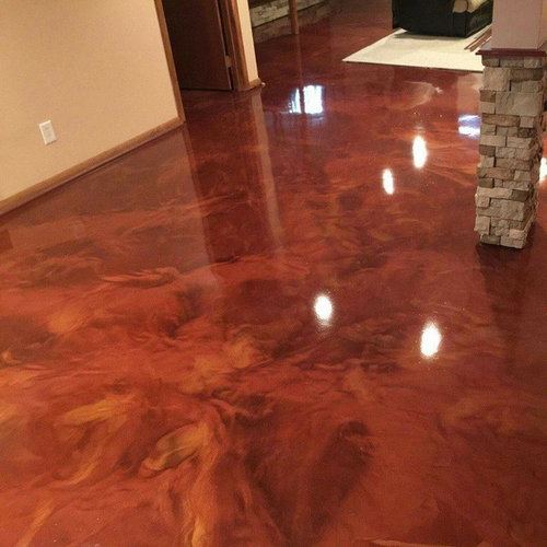 Epoxy Floor Questions: Epoxy Floor Basement Design Ideas, Pictures, Remodel & Decor