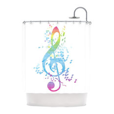 Music Themed Shower Curtains Houzz