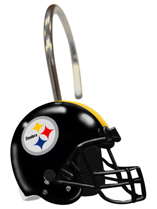 ... Company - NFL Pittsburgh Steelers Shower Curtain Rings - Features