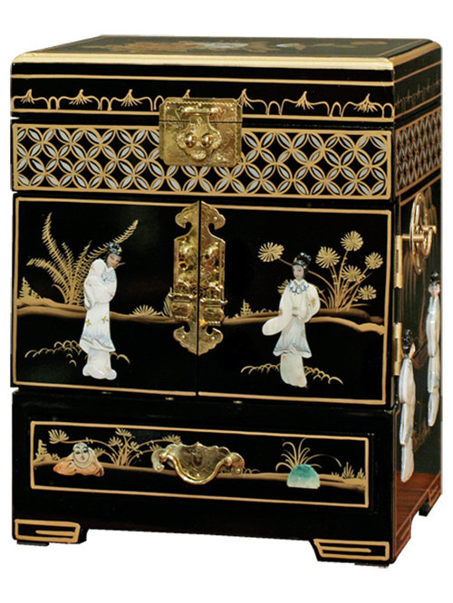 ... Mother of Pearl Motif Jewelry Cabinet - Jewelry Boxes And Organizers