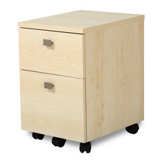 Drawer Mobile File Cabinet, Natural Maple - This elegant file cabinet ...