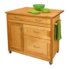 Pot and pan drawer kitchen islands and carts houzz - Stylishly modern kitchen islands additional work surface ...