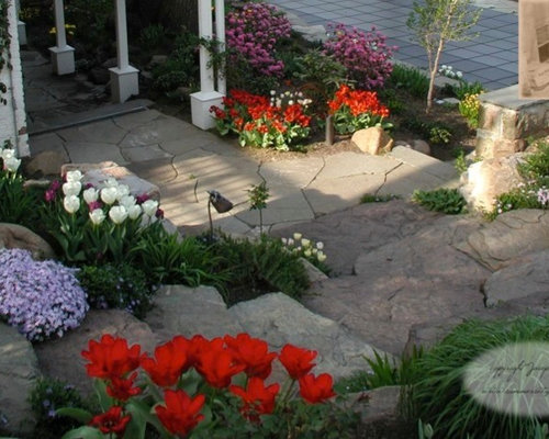 spring bulb garden home design ideas pictures remodel and decor