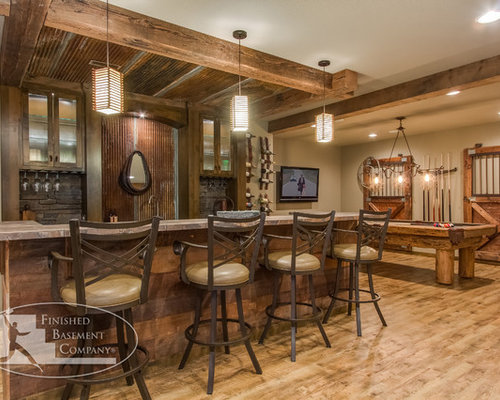 Lighting Basement Washroom Stairs: Drop Ceiling Over Bar Home Design Ideas, Pictures, Remodel