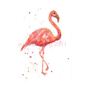 Flamingo Print by Eastwitching