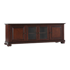 "Crosley - Alexandria 60"" Low Profile TV Stand in Vintage Mahogany ..."