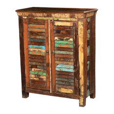 ... Reclaimed Wood Shutter Doors Rustic Storage Cabinet - Storage Cabinets
