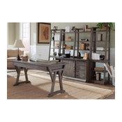 Liberty Furniture Stone Brook 5-Piece Home Office Set, Rustic Saddle