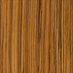 Dura Supreme Cabinetry Zebrawood Exotic Veneer with a Butternut Stain ...