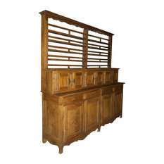 Long Provincial Louis Philippe Storage Cupboard With Dish Rack In Cherry - 1830-1839 France ...