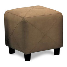 Brown Leather Ottoman Coffee Table Brown Microfiber Footstools And Ottomans Houzz