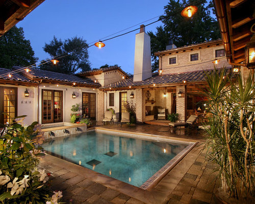 courtyard pool home design ideas pictures remodel and decor
