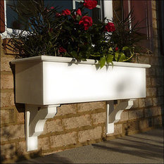 Craftsman style outdoor pots and planters houzz for Craftsman style window boxes