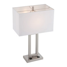 table lamps with a built in outlet houzz. Black Bedroom Furniture Sets. Home Design Ideas