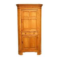 Rustic French Country Pine Corner Cupboard Cabinet - Antique French ...