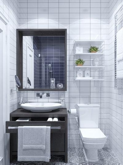 20 astuces rangement pour optimiser une petite salle de bains for Rangement salle de bain petite