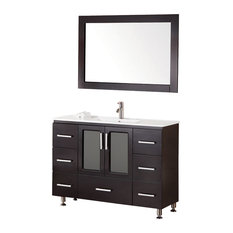 ... soft-closing double-door cabinet, all adorned with satin nickel