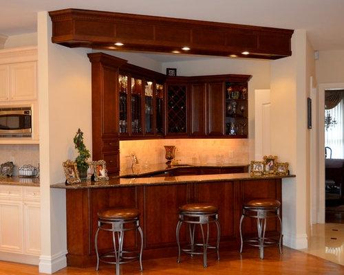 Traditional Custom Corner Wet Bar