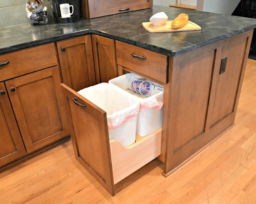 Hidden trash can home design ideas pictures remodel and decor - Kitchen trash can ideas ...