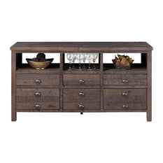 Jofran  Inch Console With  Drawer Wire Rough Hewn Finish