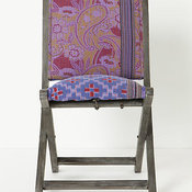 Over-dyed Terai Chair, Purple
