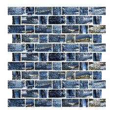 Susan jablon mosaics metallic recycled glass tile dark gray full