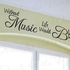 decals for the wall wall decal sticker quote vinyl art lettering design decoration without music