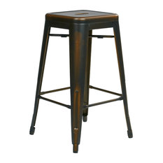 Office Star Products Bristow 26 Quot Antique Metal Barstool