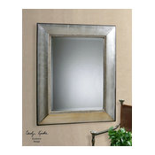 Uttermost Fresno Antique Silver Mirror by Uttermost 11572 B in Silver Finish