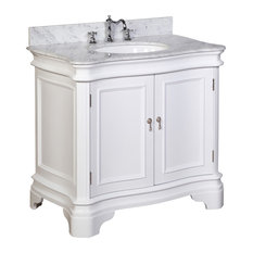 Kitchen Bath Collection Katherine Single Vanity White Carrara