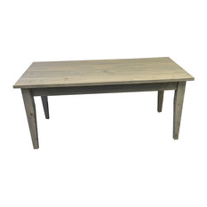 Table With Tapered Legs 54 Inches Grey Farmhouse Table With Tapered