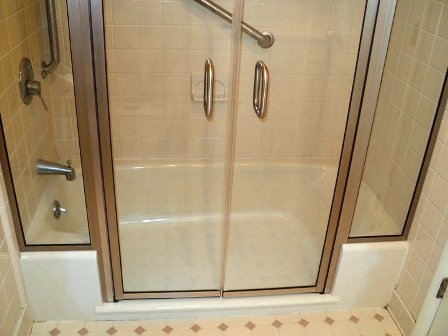 E Z Step Tub To Shower Conversion With A Frameless Shower Door Upgrade