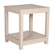 The Draper End Table, Natural Ostrich