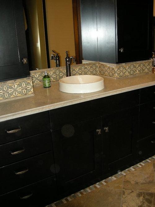 Carrelage Design ouest carrelage : Salle de bain sud-ouest amu00e9ricain avec un carrelage jaune : Photos et ...