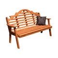 Scroll Garden Bench Mediterranean Patio Furniture And