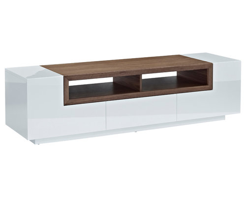 Exstra Design - Low Profile Entertainment Cabinet, White - Bring ...