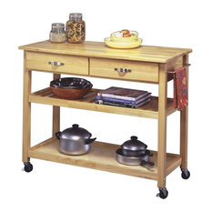 Designer utility cart home styles solid wood top kitchen cart