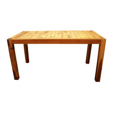 Hand Inlay Farmed Teak Inlay Kitchen Table 60 Inch X 30 Inch X 30