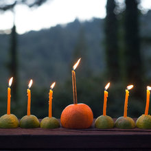 Simply Beautiful Hanukkah: Make an Easy Citrus Menorah