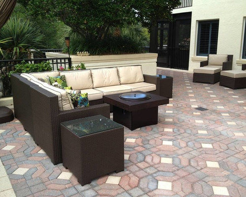 Outdoor Patio Furniture Set With Gas Fire Pit