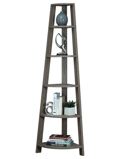 """Reclaimed-Look 72"""" High Corner Accent Etagere - Add the perfect corner ..."""