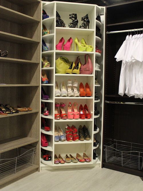 Inspiration For A Mid Sized Modern Womens Walk In Closet Remodel In